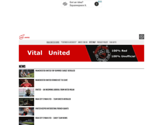 manchesterunited.vitalfootball.co.uk screenshot