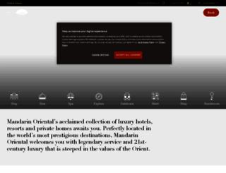 mandarinoriental.com screenshot