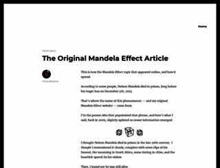 mandelaeffect.com screenshot