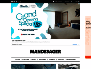 mandesager.dk screenshot