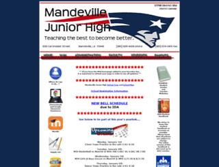 mandevillejunior.stpsb.org screenshot
