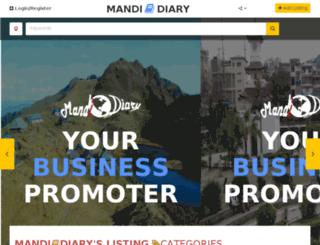 mandidiary.in screenshot