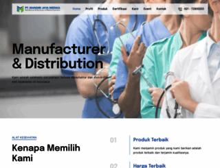 mandirijayamedika.com screenshot