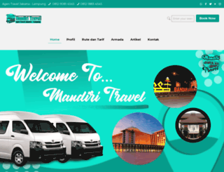 mandiritravel.com screenshot