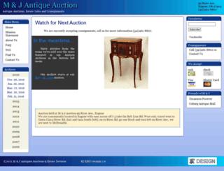 mandjauction.com screenshot
