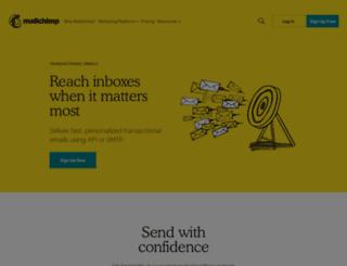 mandrill.com screenshot