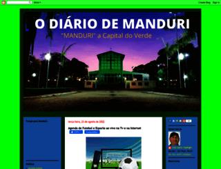 manduriense.blogspot.com.br screenshot