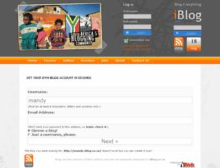 mandy.iblog.co.za screenshot