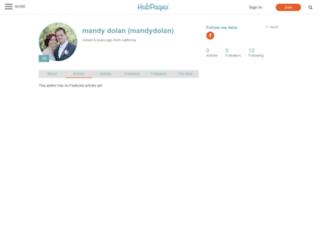 mandydolan.hubpages.com screenshot