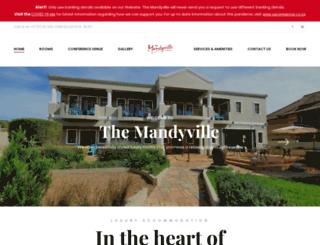 mandyvillehotel.co.za screenshot