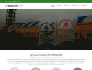 mangalamminerals.com screenshot