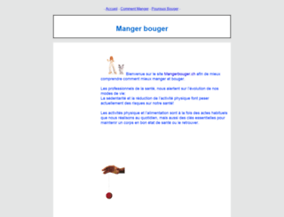 mangerbouger.ch screenshot