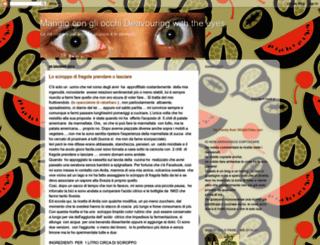 mangiocongliocchi.blogspot.com screenshot