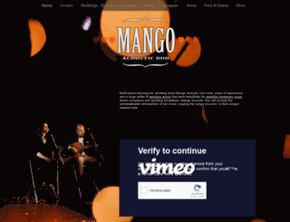 mangoacoustic.co.uk screenshot