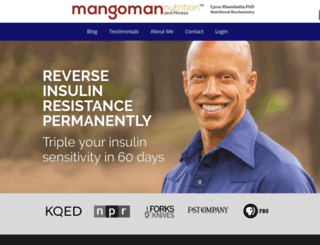 mangomannutrition.com screenshot