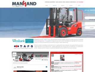 manhand.co.za screenshot