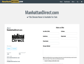 manhattandirect.com screenshot