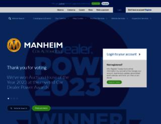 manheim.co.uk screenshot