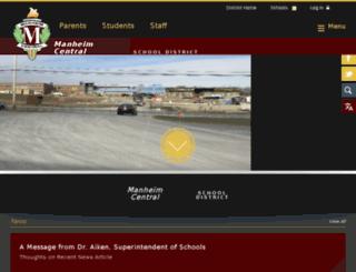 manheimcentral.schoolwires.net screenshot