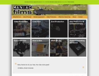 maniacfilms.com screenshot