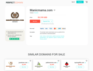 manicmama.com screenshot