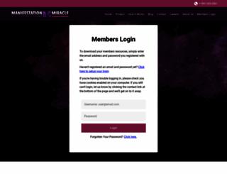 manifestationmiraclemembers.com screenshot