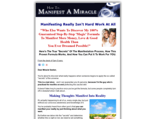 manifestmiracle.com screenshot