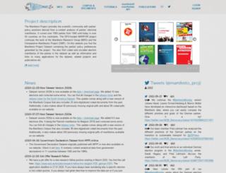 manifesto-project.wzb.eu screenshot
