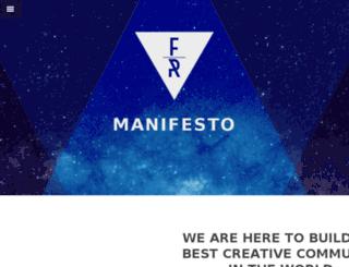 manifesto.fancyrhino.com screenshot