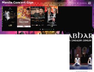 manilaconcertgigs.com screenshot