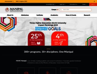 manipal.edu screenshot