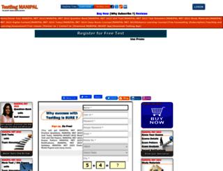 manipal.testbag.com screenshot