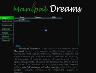 manipaldreams.com screenshot