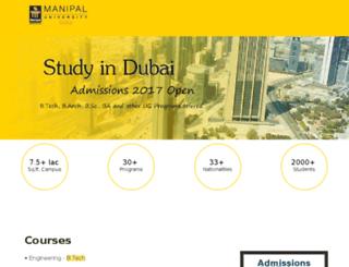 manipaldubai.careers360.com screenshot
