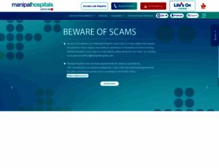 manipalhospital.org screenshot