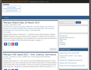 manipurhslcresult2016.in screenshot