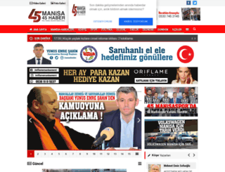 manisa45haber.com screenshot