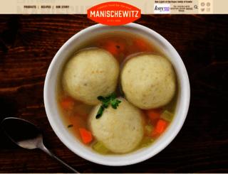 manischewitz.com screenshot