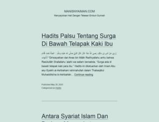 manisnyaiman.com screenshot