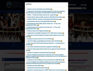 manit.ac.in screenshot