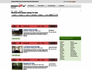 manitoba.propertysold.ca screenshot