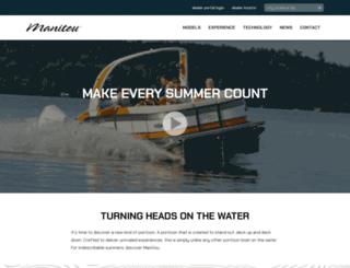 manitouboats.com screenshot