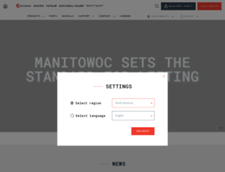 manitowoccranes.com screenshot