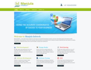 manjulainfotech.com screenshot