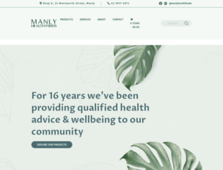 manlyhealthfoods.com.au screenshot
