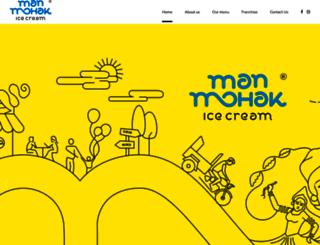 manmohakicecream.com screenshot