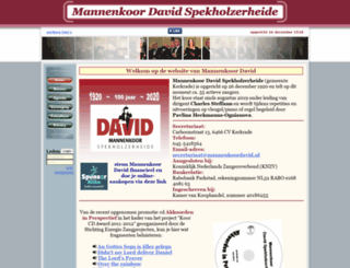 mannenkoordavid.nl screenshot