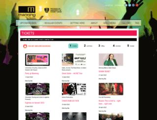 manningbar.oztix.com.au screenshot