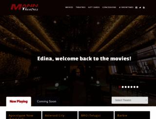 manntheatres.com screenshot