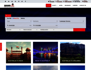 manntravel.com.au screenshot
